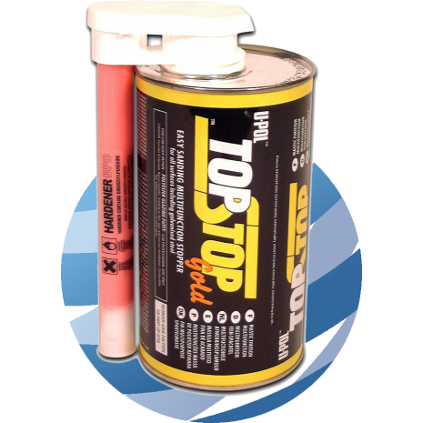 U-Pol Top Stop Gold Polyester Stopper 1.3L