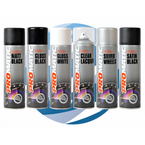 Aerosol Spray Paints - ProMATIC  500ml Mixed Colours