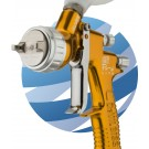 Devilbiss GTI PRO Gravity Spraygun with 2 Nozzles - Gold