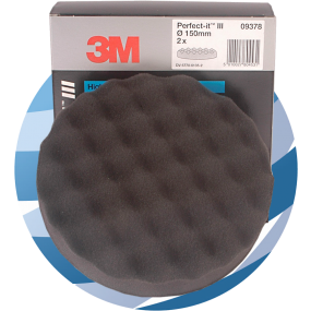 09378 3M™ Perfect-It™ III High Gloss Polishing Pad, 150 mm, 2 Pads