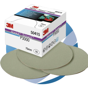 3M™ Trizact™ Fine Finishing Disc 75 mm P3000, Box of 15 Discs (50415)