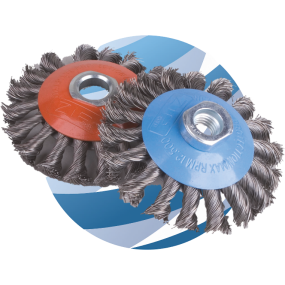 Knotted Wire Wheel Brush - 100mm