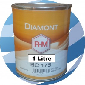 BC175 Medium Shiny Aluminium RM Diamont Basecoat Car Paint 1 Litre
