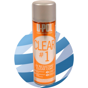 U-Pol CLEAR#1™: High Gloss Clear Coat Aerosol 450ml