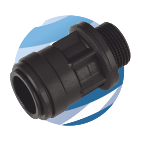 "Fast Fit 22mm Straight Adaptor with 3/4""BSP Male Thread"