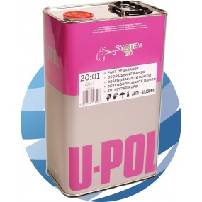 U-pol Solvent Based Degreaser/Panelwipe 5ltr - Fast and slow