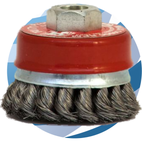 Wire Cup Brush Twist Knot 70mm - M14