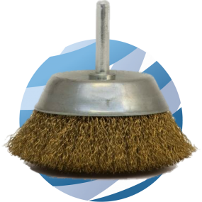 Mini Cup Brush 6mm shaft 50mm